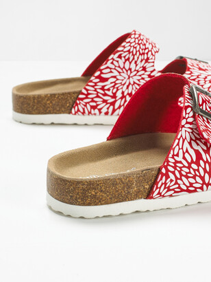 White Stuff Double Strap Printed Footbed