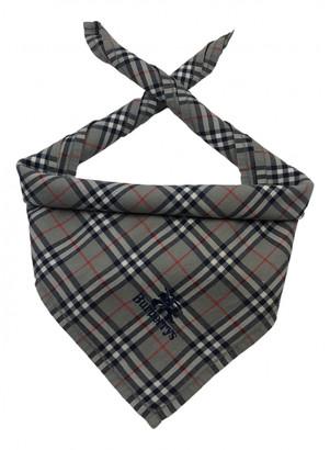 Burberry Grey Cotton Scarves & pocket squares