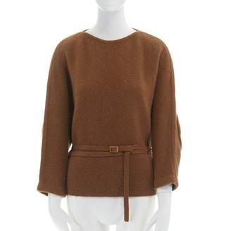 Leroy Veronique Camel Wool Knitwear