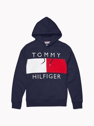 Tommy Hilfiger Logo Flag Hoodie