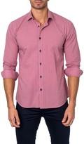 Jared Lang Printed Long Sleeve Semi-Fitted Shirt