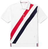 Thom Browne - Striped Cotton-piqué Polo Shirt