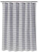 Threshold Multi-Stripe Shower Curtain - Ebony