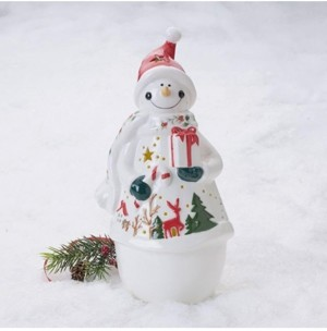 Pfaltzgraff Winterberry Stoneware Led Light lrg Snowman