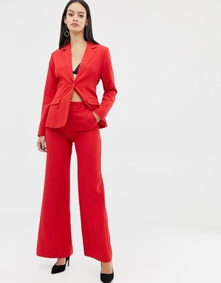 UNIQUE21 wide leg trouser-Red