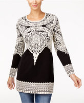 INC International Concepts Jacquard Tunic Sweater, Only at Macy's