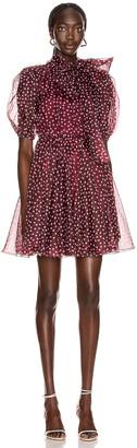 Dolce & Gabbana Tie Polka Dot Mini Dress in Rosa | FWRD