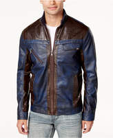 INC International Concepts Men's Colorblocked Faux Leather Jacket, Created for Macy's