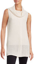 Two By Vince Camuto Sleeveless Turtleneck Sweater