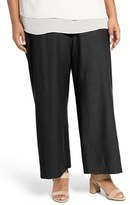 Eileen Fisher Washable Stretch Crepe Crop Pants (Plus Size)