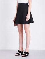 Sandro Flared textured mini skirt
