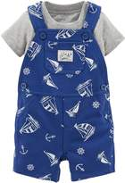 Carter's 2 Piece Print Shortall Set (Baby) - Navy (9M)