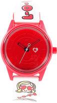 Harajuku Lovers Unisex Emoji Designed by Gwen Stefani Printed Strap Watch 40mm HL2321