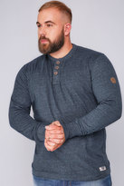 Yours Clothing D555 Navy Long Sleeve Sweat Top - TALL