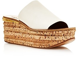 Chloé Women's Camille Leather Wedge Sandals