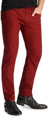 John Varvatos Men's Chelsea-Fit Garment-Dyed Denim Jeans