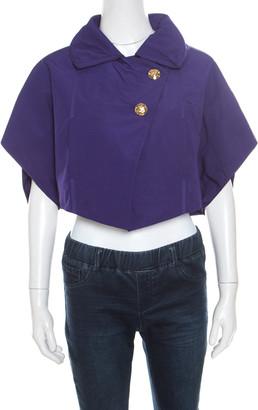 Louis Vuitton Purple Logo Button Detail Shrug S