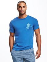 Old Navy Garment-Dyed Graphic Crew-Neck Tee for Men