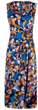 Christian Siriano New York Sleeveless Drape-Front Dress