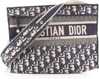 Christian Dior Convertible Clutch Oblique Canvas