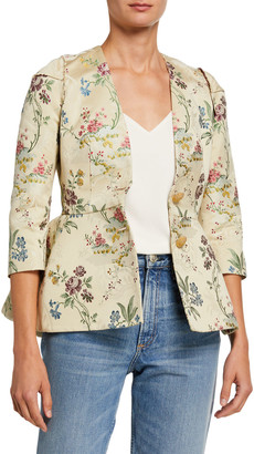 Brock Collection Floral Print Cotton-Silk Jacket