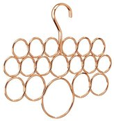 InterDesign Axis Scarf Hanger, No Snag Storage for Scarves, Ties, Belts, Shawls, Pashminas, Accessories - 18 Loops, Copper