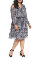 MICHAEL Michael Kors Plus Size Women's Big Cat Print Cold Shoulder Dress