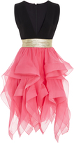 Reem Acra Ruffled Mini Dress