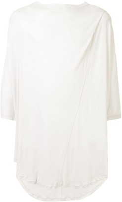 Julius asymmetric hem oversized T-shirt