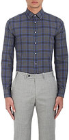 Brooklyn Tailors BROOKLYN TAILORS MEN'S PLAID COTTON FLANNEL DRESS SHIRT