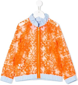 Mi Mi Sol Jacquard Effect Hooded Jacket