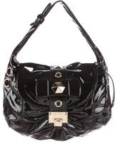 Jimmy Choo Studded Patent Leather Hobo