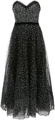 Marchesa strapless sequin evening dress