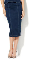 New York & Co. Soho Jeans Zip-Accent Skirt