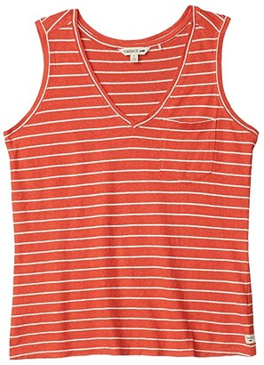 Toad&Co Grom Tank (Chili Stripe) Women's Clothing