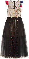 Natasha Zinko Pompom-embellished tulle midi dress