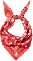 Alexander McQueen Star and skull-print silk scarf