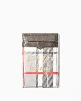 Charming charlie Tartan Plaid Magic Wallet