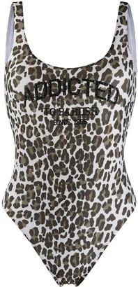 P.A.R.O.S.H. Leopard Print Leotard Top