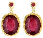 Jade Jagger Maiden Ruby Sterling Silver with Gold Vermeil Earrings