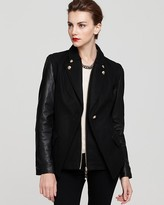 Sam Edelman Convertible Jacket with Leather Sleeves
