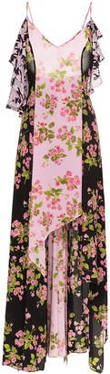 Natasha Zinko Rose Print Silk Maxi Dress