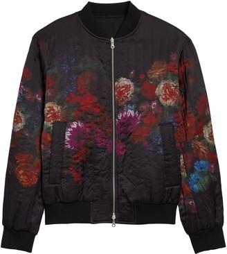 Dries Van Noten Volker Floral Quilted Bomber Jacket