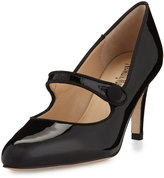 Neiman Marcus Joetta Patent Mary Jane Pump, Black