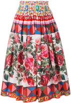 Dolce & Gabbana Mambo print pleated skirt - women - Cotton - 42