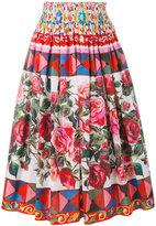 Dolce & Gabbana Mambo print pleated skirt