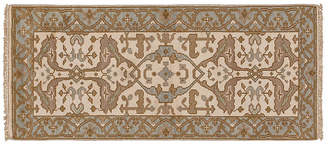 """2'7""""x6' Anup Hand-Knotted Runner - Ivory - Apadana Fine Rugs - ivory/multi"""