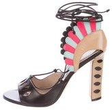 Paula Cademartori Lotus Leather Sandals