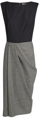 Alexander McQueen Wool Sleeveless Midi Dress