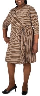 Robbie Bee Plus Size Striped Dress